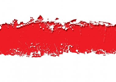 Blood red background with white grunge ink splat banner stock vector