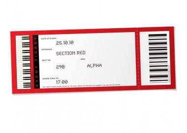Concert event ticket