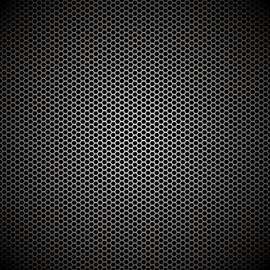 Hexagon metal background