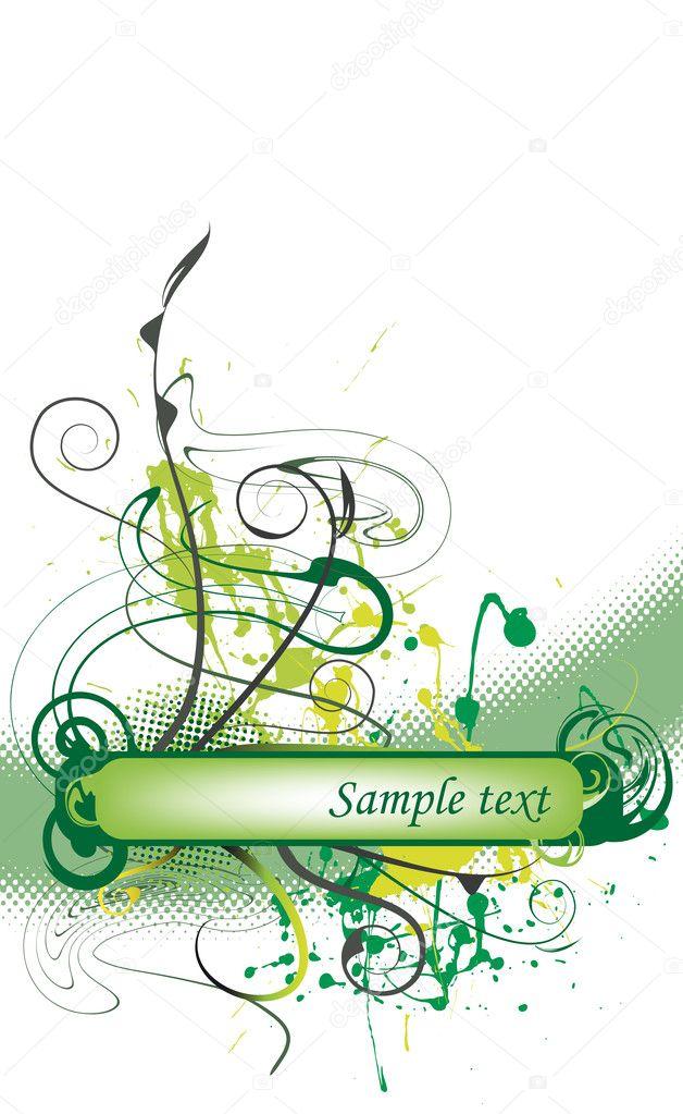 Реферат цветочные гранж дизайн Векторное изображение  Абстрактный цветочный гранж дизайн вектор для текста Вектор от kistochka