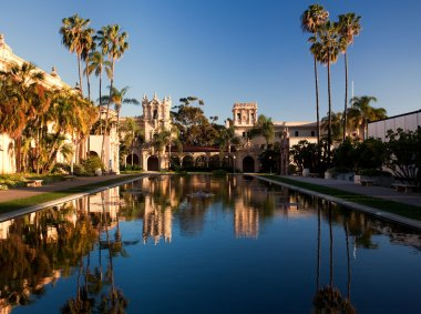 Casa de Balboa and House of Hospitality at sunse