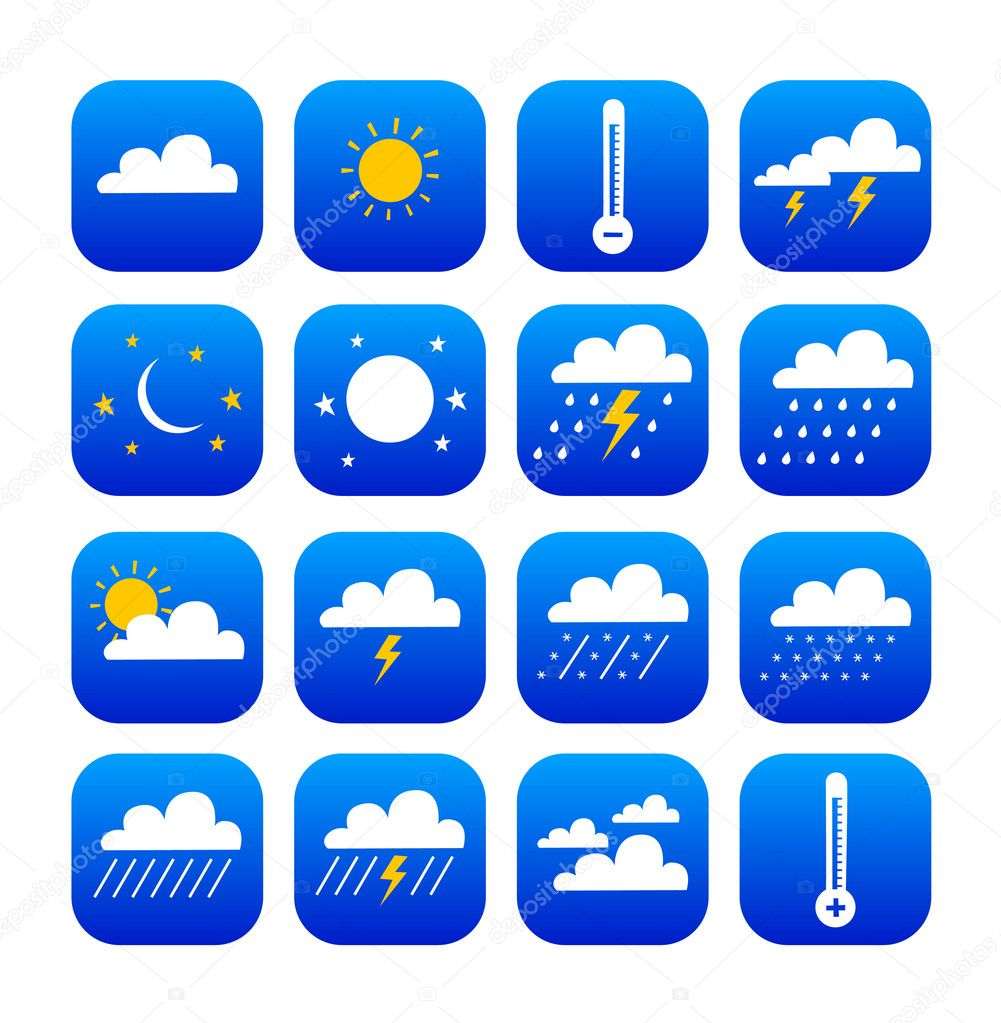 Symbols of weather and climate
