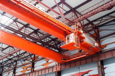 Large-tonnage industrial orange crane