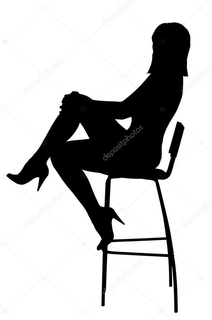 0c82277f5a85 Silueta de la muchacha sexual — Foto de stock © antiksu #3166361