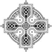 Photo Vector celtic cross traditional ornament