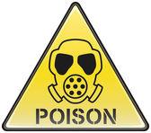 Giftgas Maske Vektor Dreieck gefährliche Zeichen
