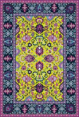 Persian detailed vector carpet