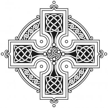 Vector celtic cross traditional ornament