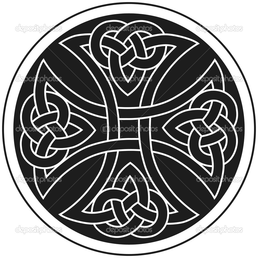 Vector Cruz celta adorno tradicional — Vector de stock © chaosmaker ...