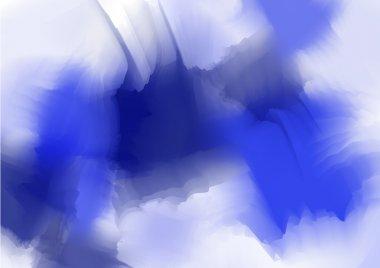 Bright navy blue watercolor background clip art vector