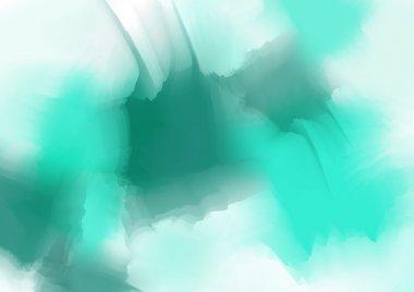 Bright sea color watercolor background clip art vector