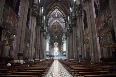 Interior View of Milan Cathedral