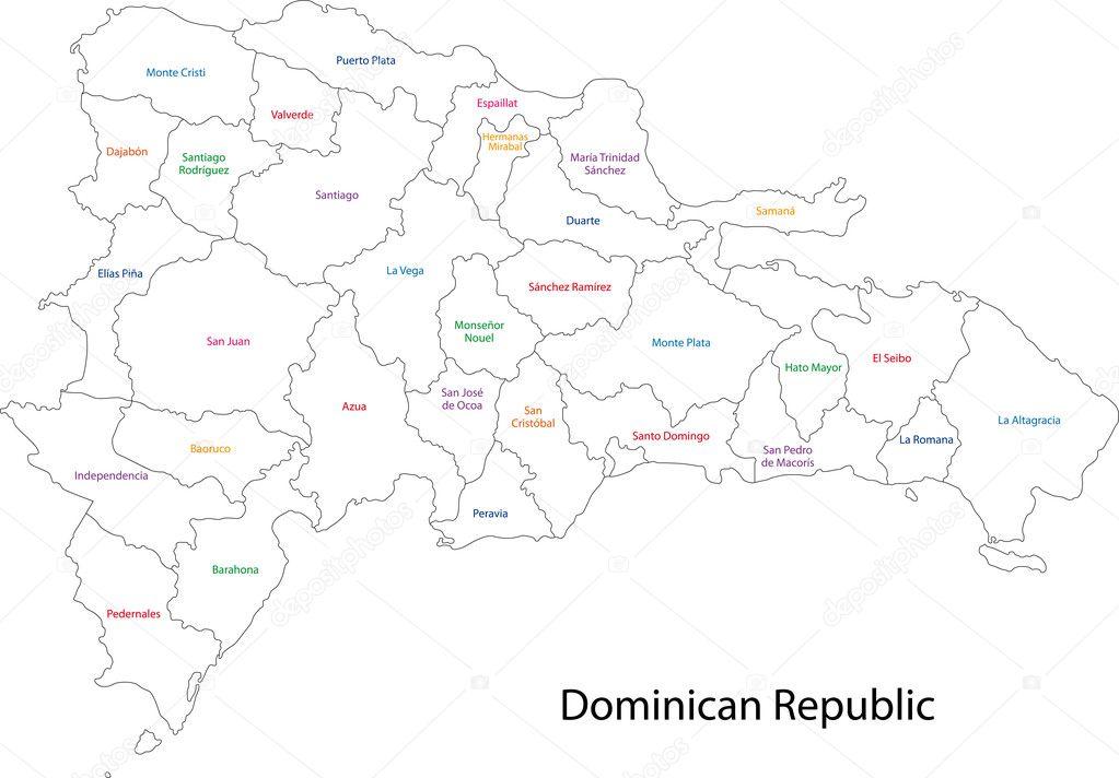 Dominican Republic Map Stock Vector Volina - Dominican republic map vector