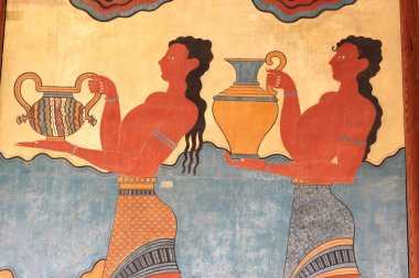 Fresco at the south entrance of the Palace of Knossos