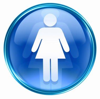 Woman icon blue.