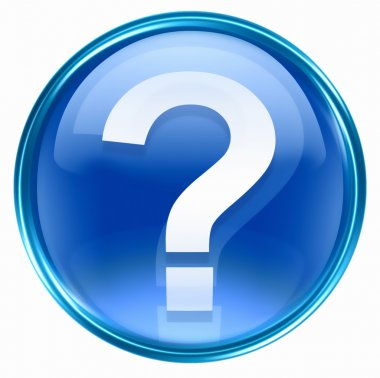 Question symbol icon blue.