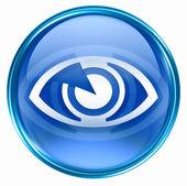 ikona oka modrý, izolovaných na bílém pozadí