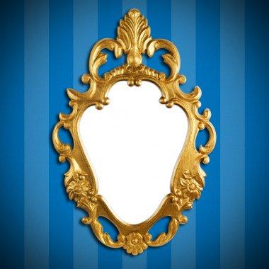 "Картина, постер, плакат, фотообои ""золотая металлическая рама зеркало раме зеркала настенное круглые напольное рамы"", артикул 3043897"