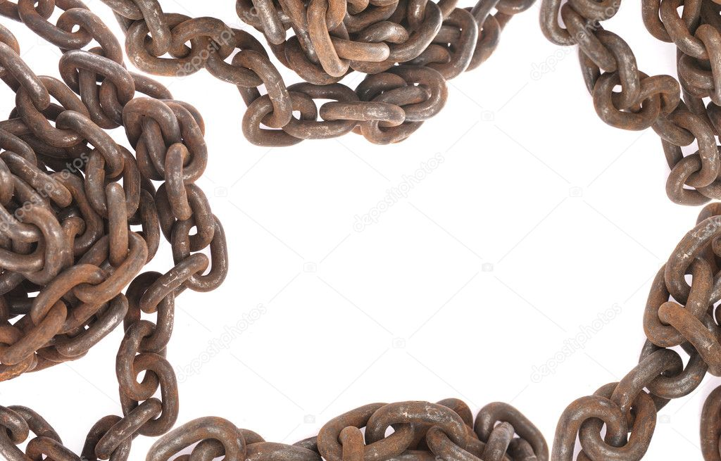Old rusty chain frame — Stock Photo © spaxiax #2824671