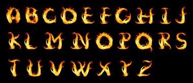 Fiery alphabet