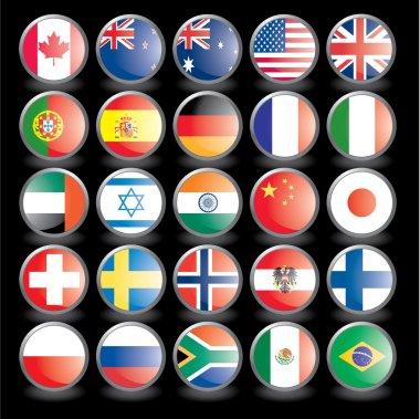 Flags on black
