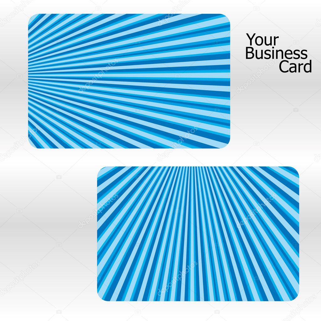 Ensemble De Cartes Visite Denudees Bleus Partie 18 Illustration Vectorielle Vecteur Par MarketOlya