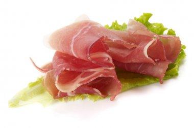 Ham and lettuce
