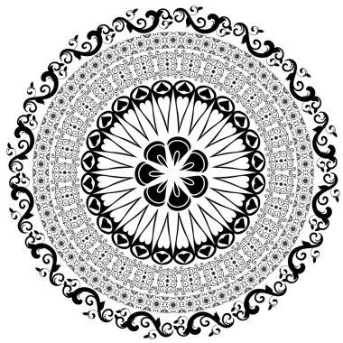 Baroque pattern round