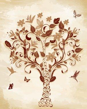 Tree on papyrus