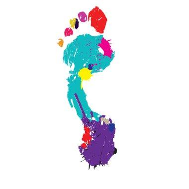 Foot print. Vector illustration