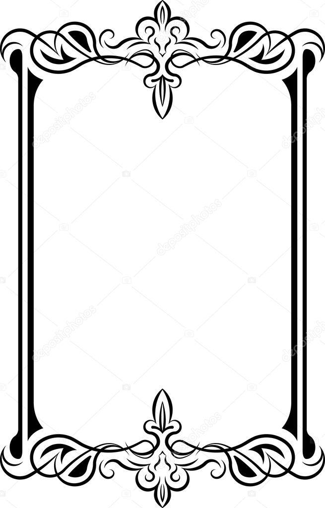 marco de estilo retro. Vector — Vector de stock © antonshpak #3876396