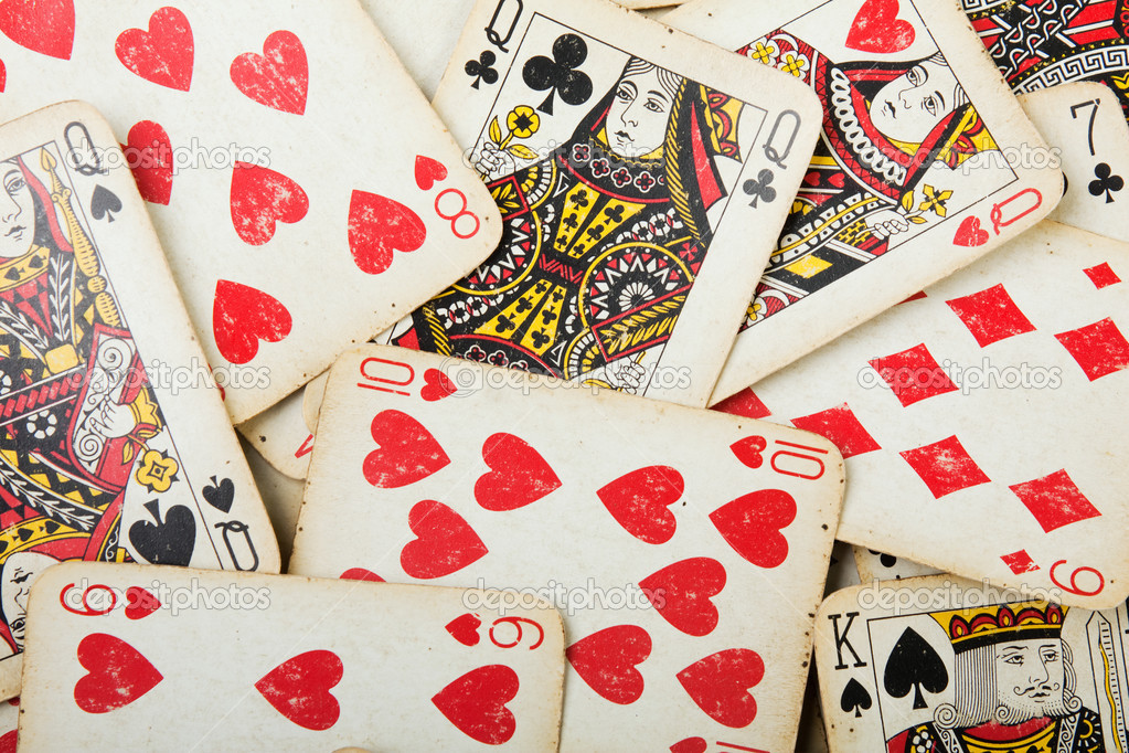 Poker gambling cards