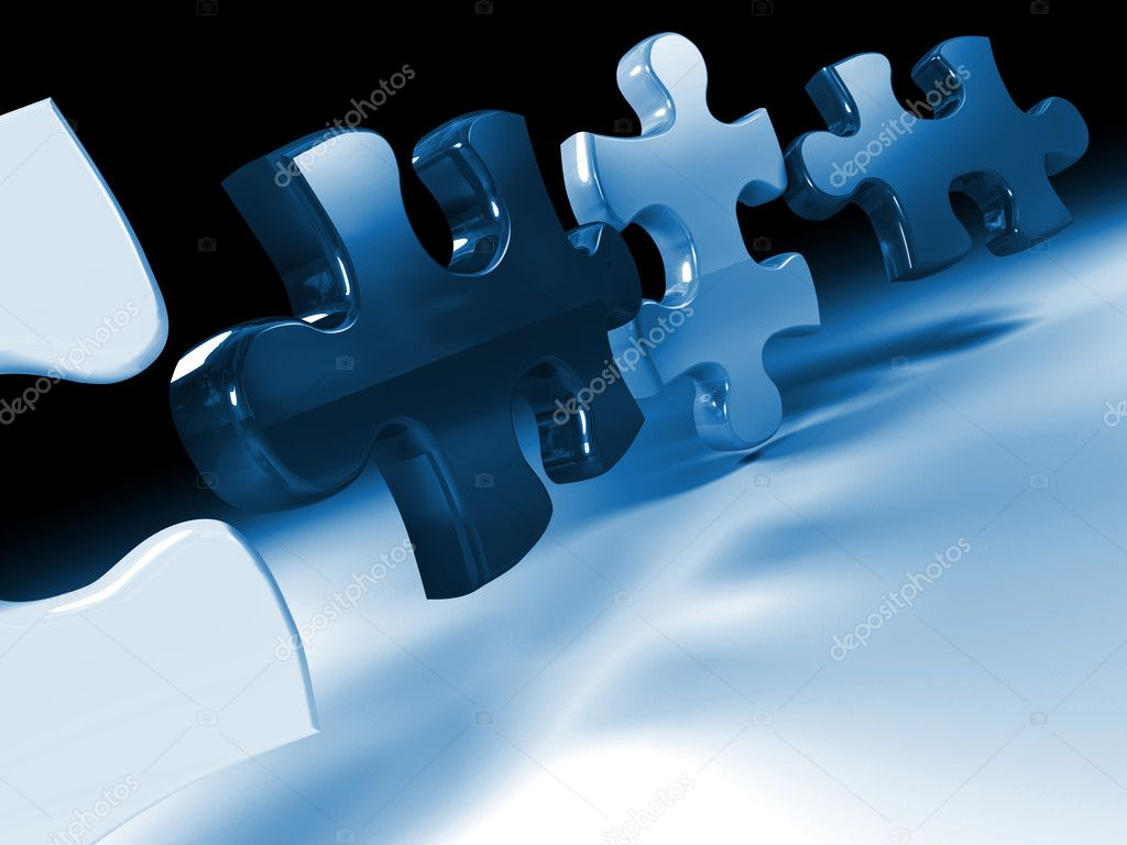 Jigsaw Puzzle 3d Stock Photo