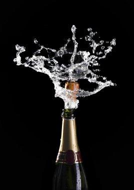 Champagne cork explosion
