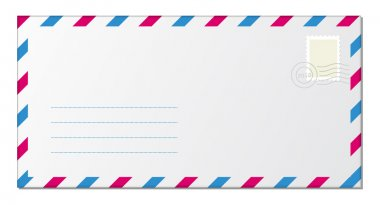 Blank Stamped Envelopes on white stock vector