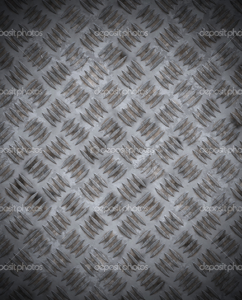 Old Grungy Diamond Plate Stock Vector C Clearviewstock