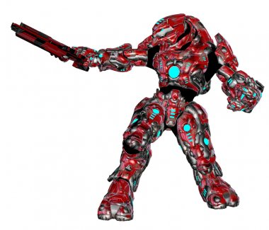 Scifi alien robot