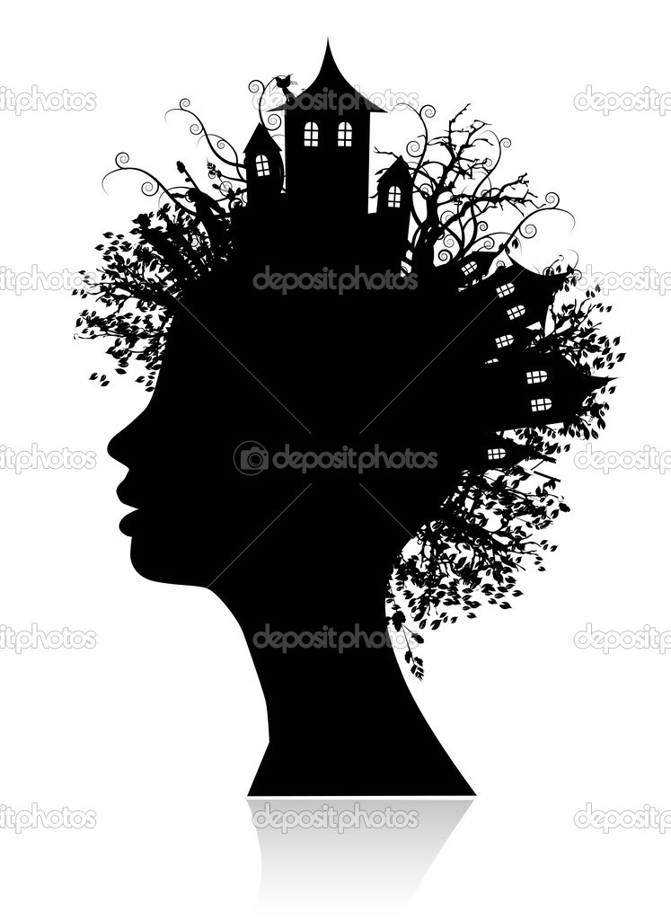 Environment, thinking silhouette