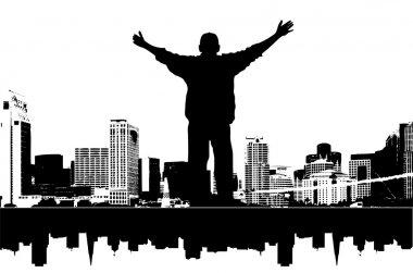 It's my city, vector illustration