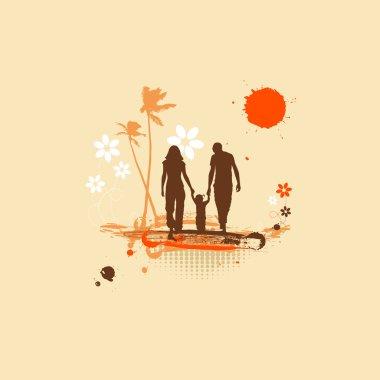 Happy family, summer holiday
