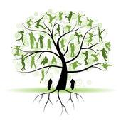 Fotografie Family tree, silhouettes
