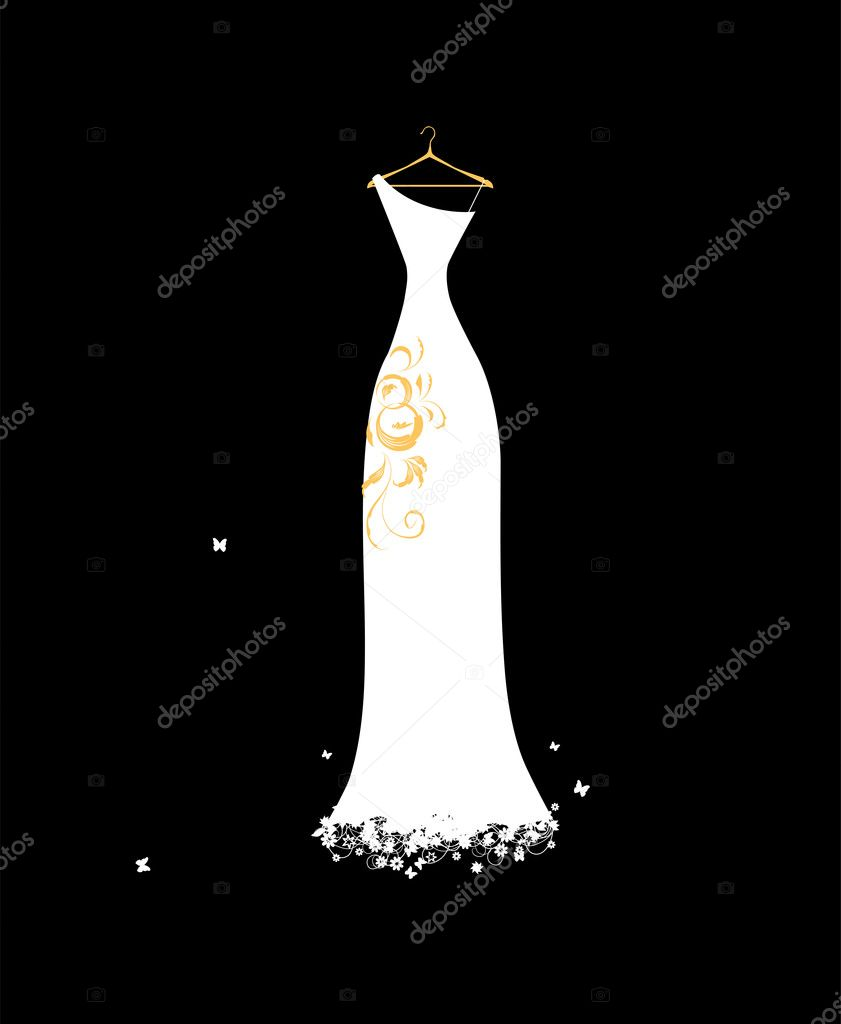 Áˆ Weddings Dresses Stock Pictures Royalty Free Wedding Dress Cartoon Vectors Download On Depositphotos