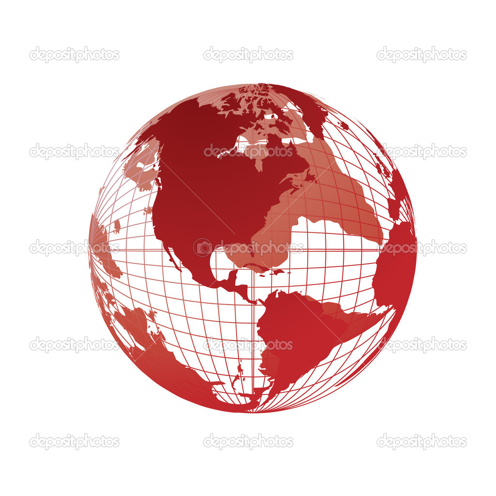World map 3d globe stock vector kudryashka 3477236 world map 3d globe stock vector gumiabroncs Gallery