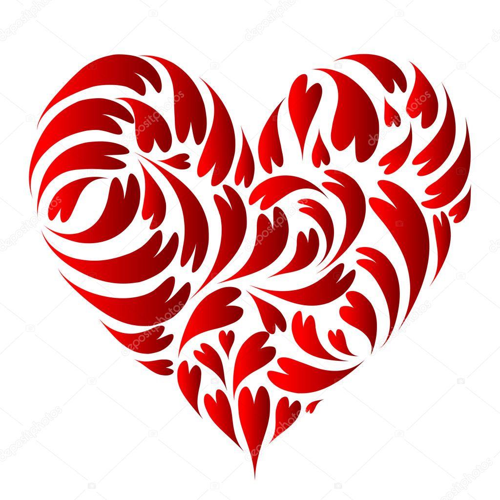 Diseño De La Forma Del Corazón Stockvector Kudryashka 3786864