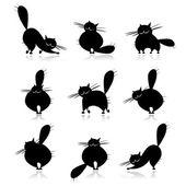 Fotografia sagome divertenti gatti neri di grasso per il vostro disegno