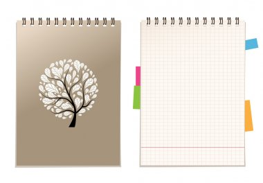 Notebook cover and page for your design