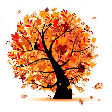 Beautiful autumn tree for your design clip art vector