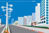 Fotografia skyline della città blu