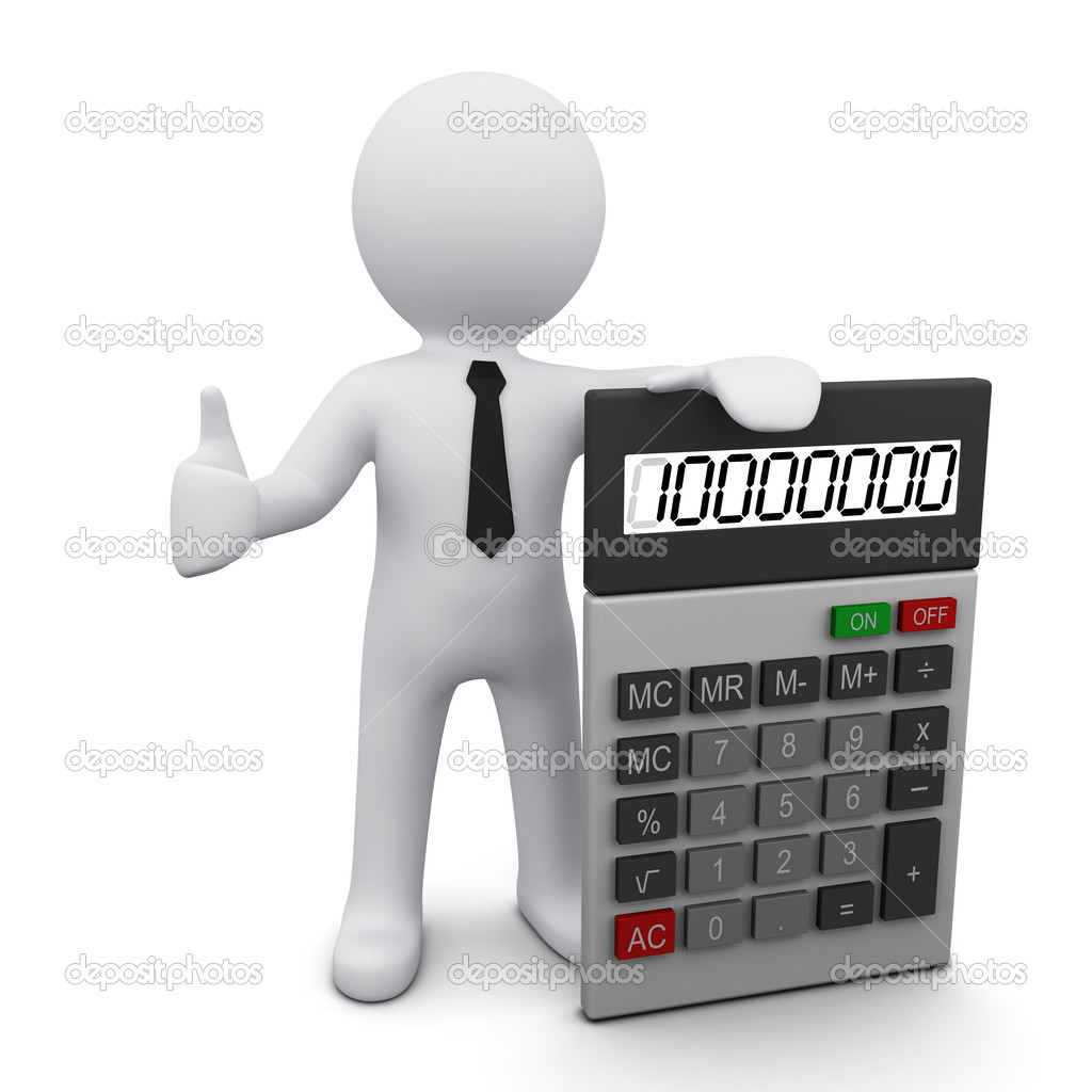 3d Man With Calculator Stock Photo Sergeynivens 4723550