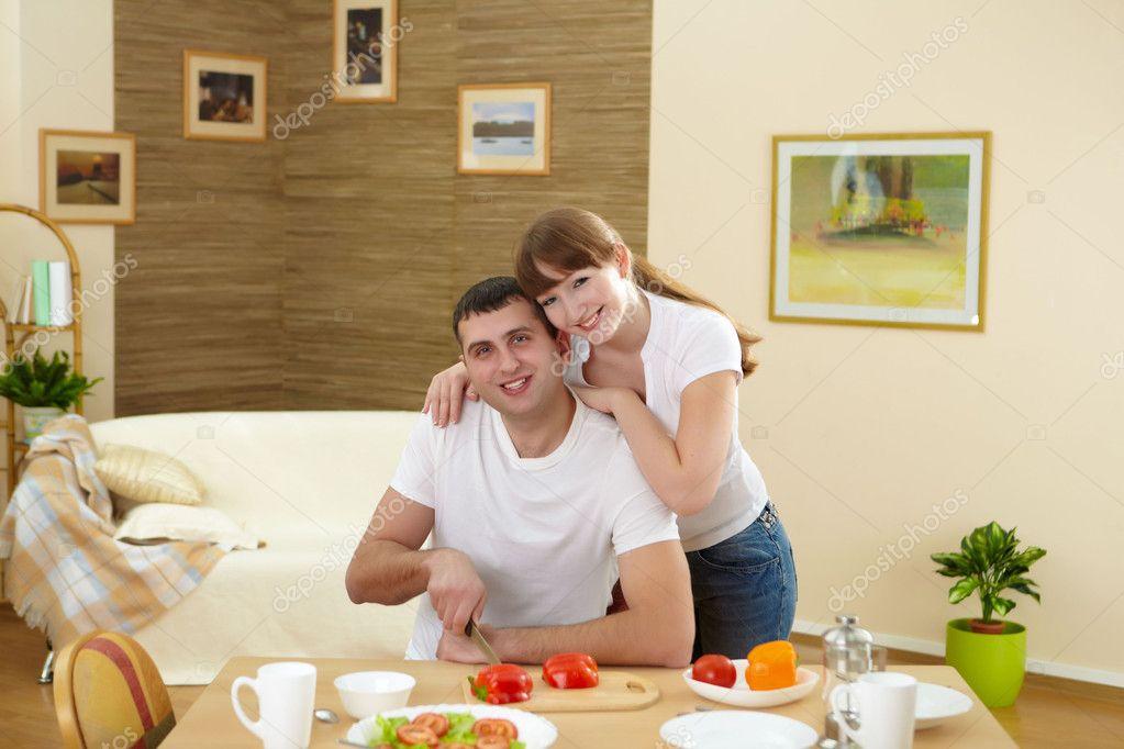 Жена с мужем дома фото 121-218